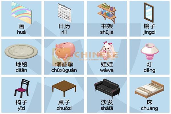 Học tiếng Trung theo chủ đề đồ vật