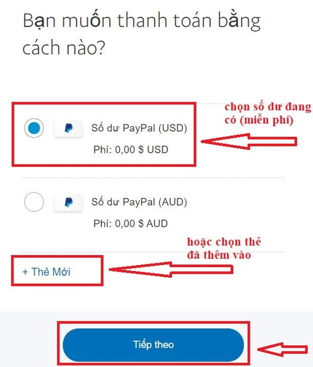 cach thanh toan paypal viet nam