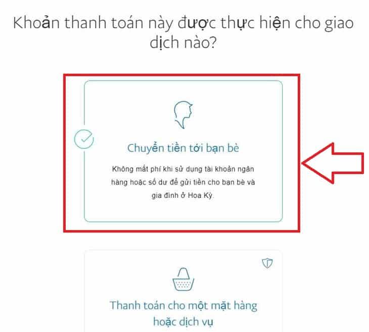 chon gui ban be paypal