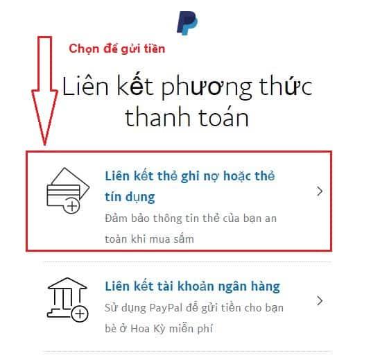 phuong thuc lien ket the visa paypal