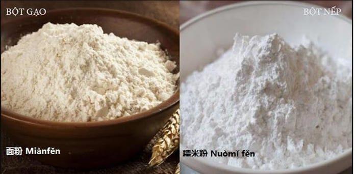 Từ vựng Các loại bột phổ biến trong tiếng Trung
