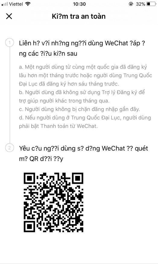 đăng ký wechat bằng facebook