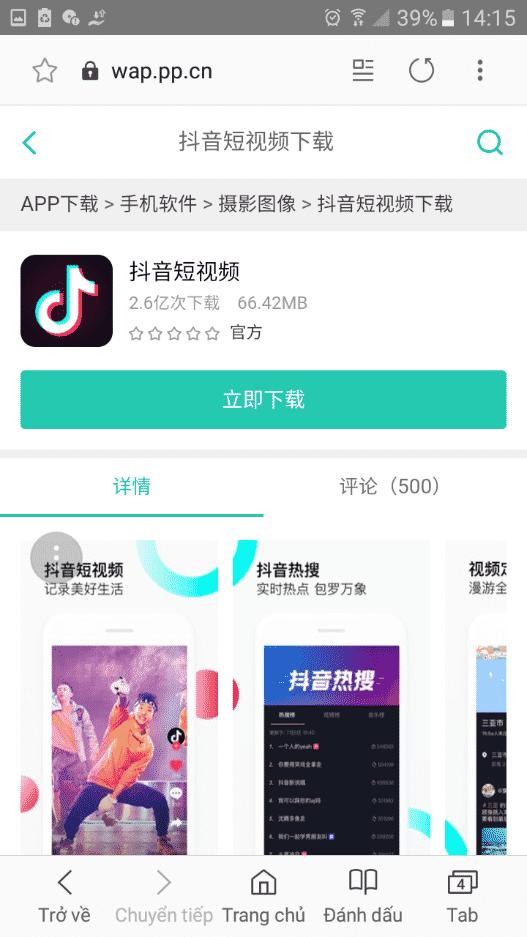 2.Cách tải tik tok Trung Quốc cho Android và IOS