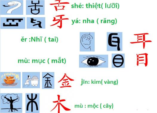 Chữ Tượng hình trong chữ Hán