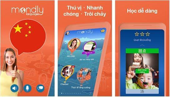 phần mềm học tiếng Trung Mondly